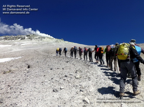 Trek Damavand Iran, Italy Dream Team August 2012